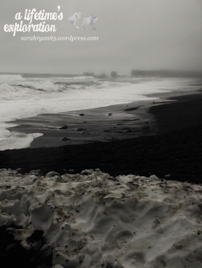 Iceland, beach, snow, waves, ocean, sea, ice, winter, coast, wid, adventure